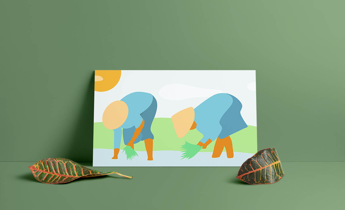 Illustration Indonésienne sur Illustrator