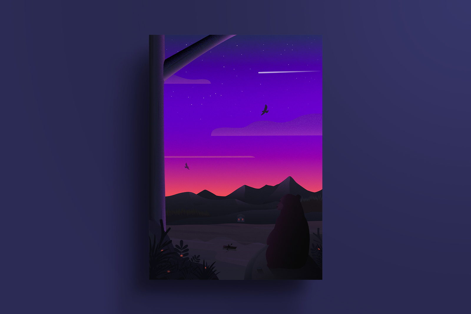 Illustration poster - A bear's view
