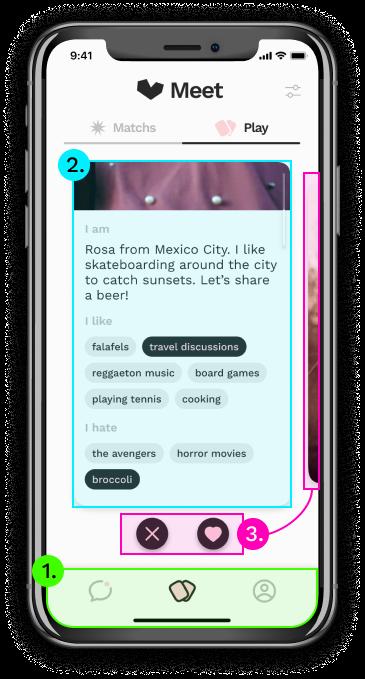 Meet-Playing-Profile card